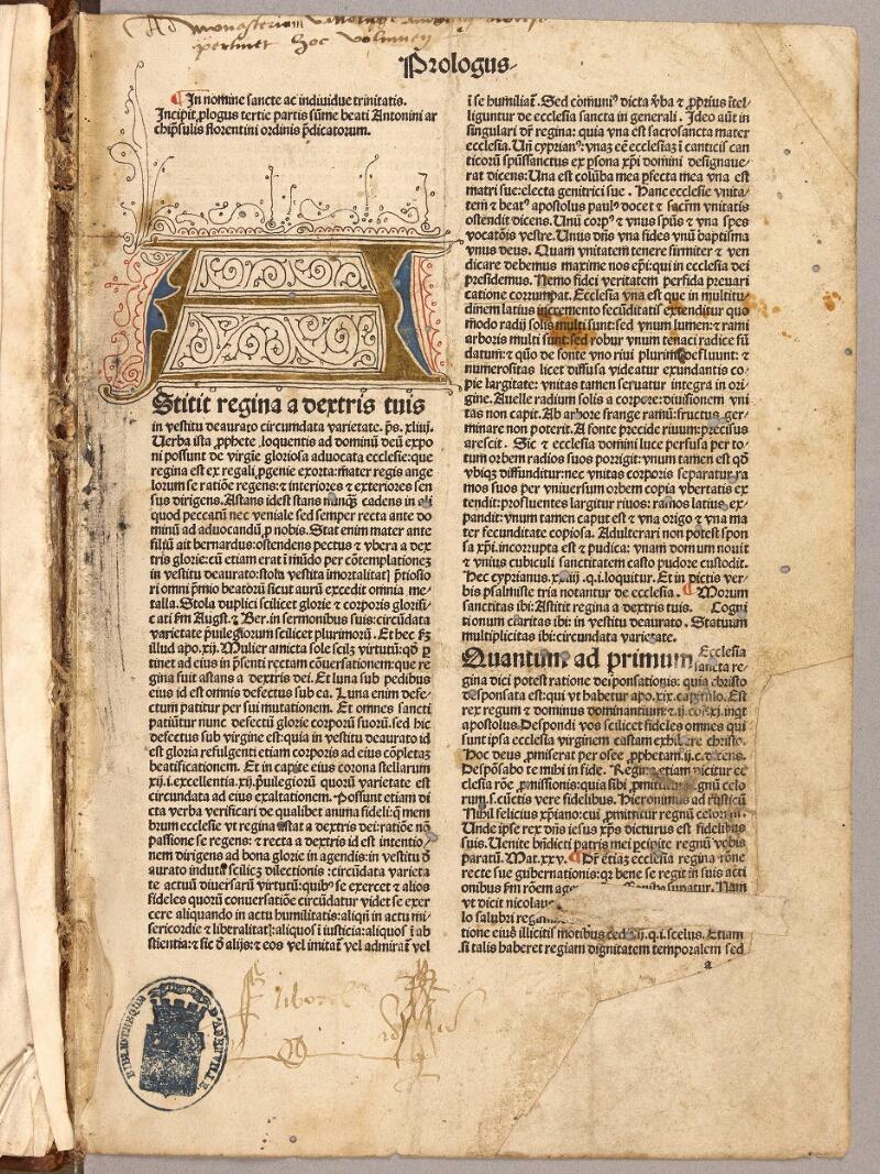 Abbeville, Bibl. mun., inc. 005, f. 001 - vue 2