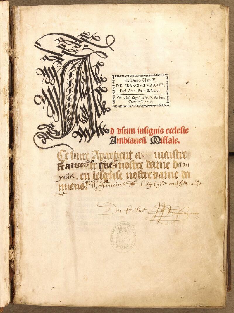 Abbeville, Bibl. mun., inc. 046, A f. 000A - vue 2
