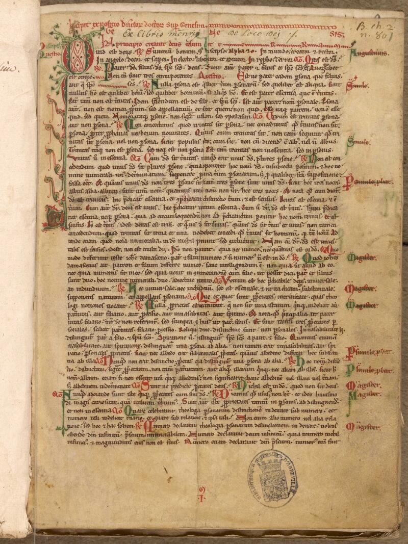 Abbeville, Bibl. mun., ms. 0002, f. 001 - vue 2