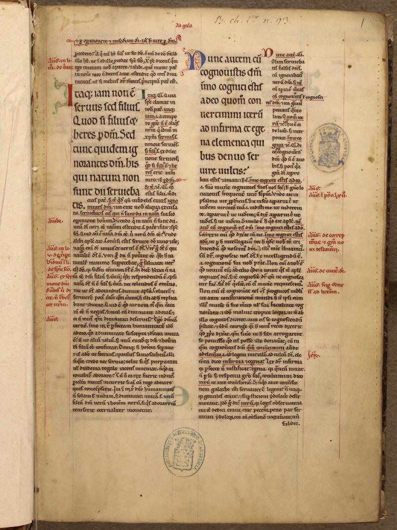 Abbeville, Bibl. mun., ms. 0005, f. 001 - vue 2