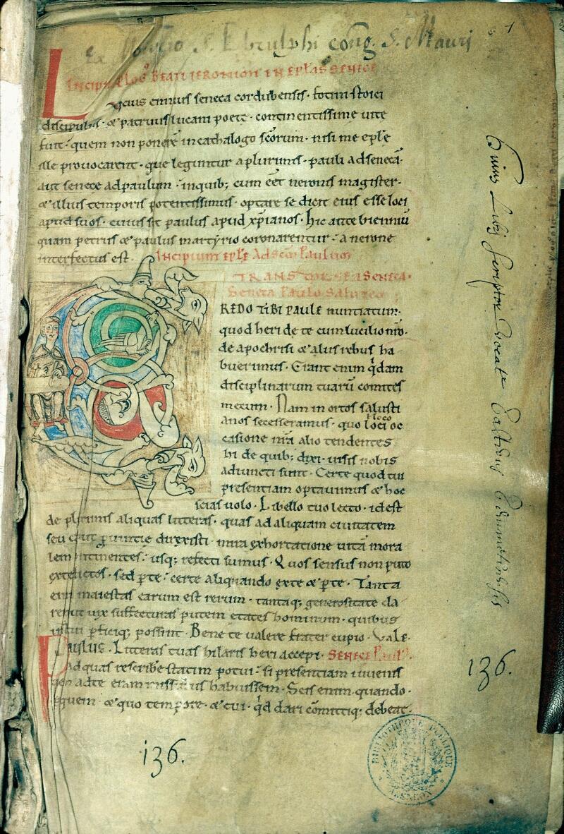 Alençon, Bibl. mun., ms. 0003, f. 001 - vue 1