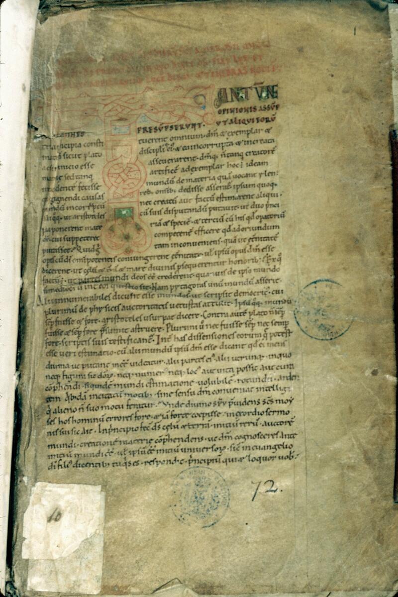 Alençon, Bibl. mun., ms. 0010, f. 001