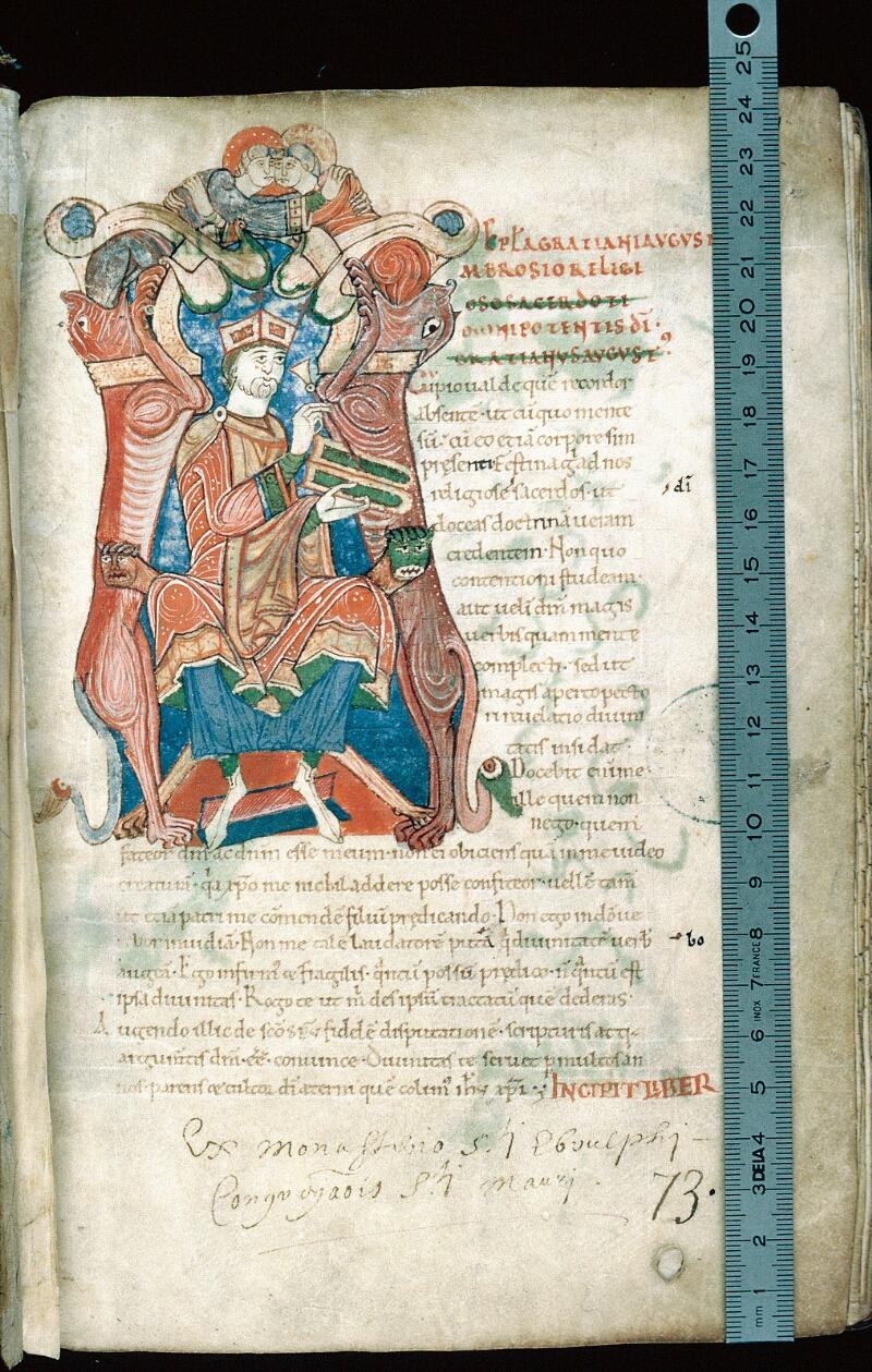 Alençon, Bibl. mun., ms. 0011, f. 001 - vue 1