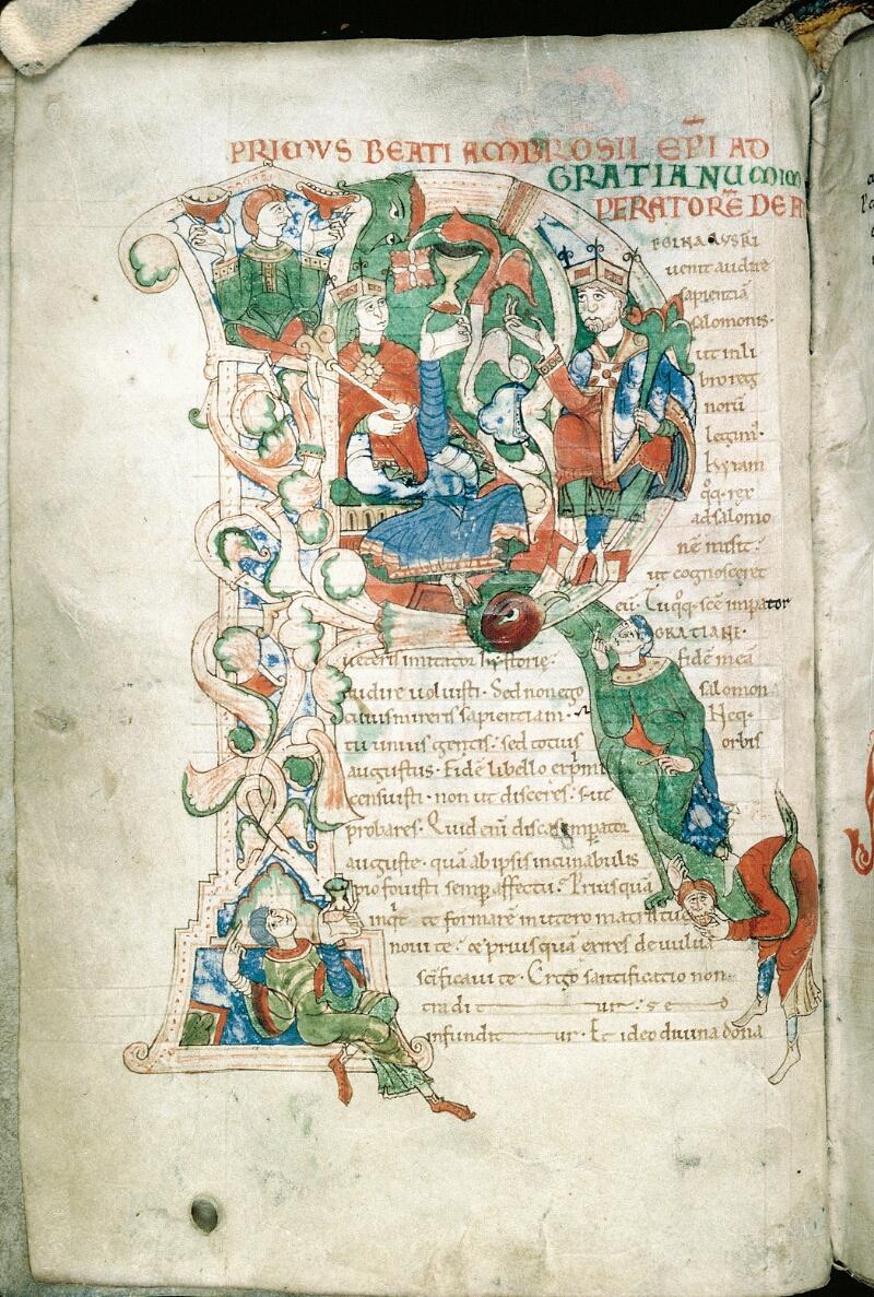 Alençon, Bibl. mun., ms. 0011, f. 001v - vue 1