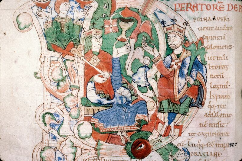 Alençon, Bibl. mun., ms. 0011, f. 001v - vue 3