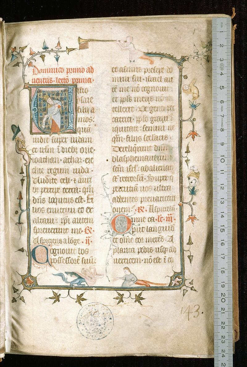 Alençon, Bibl. mun., ms. 0128, f. 001 - vue 1