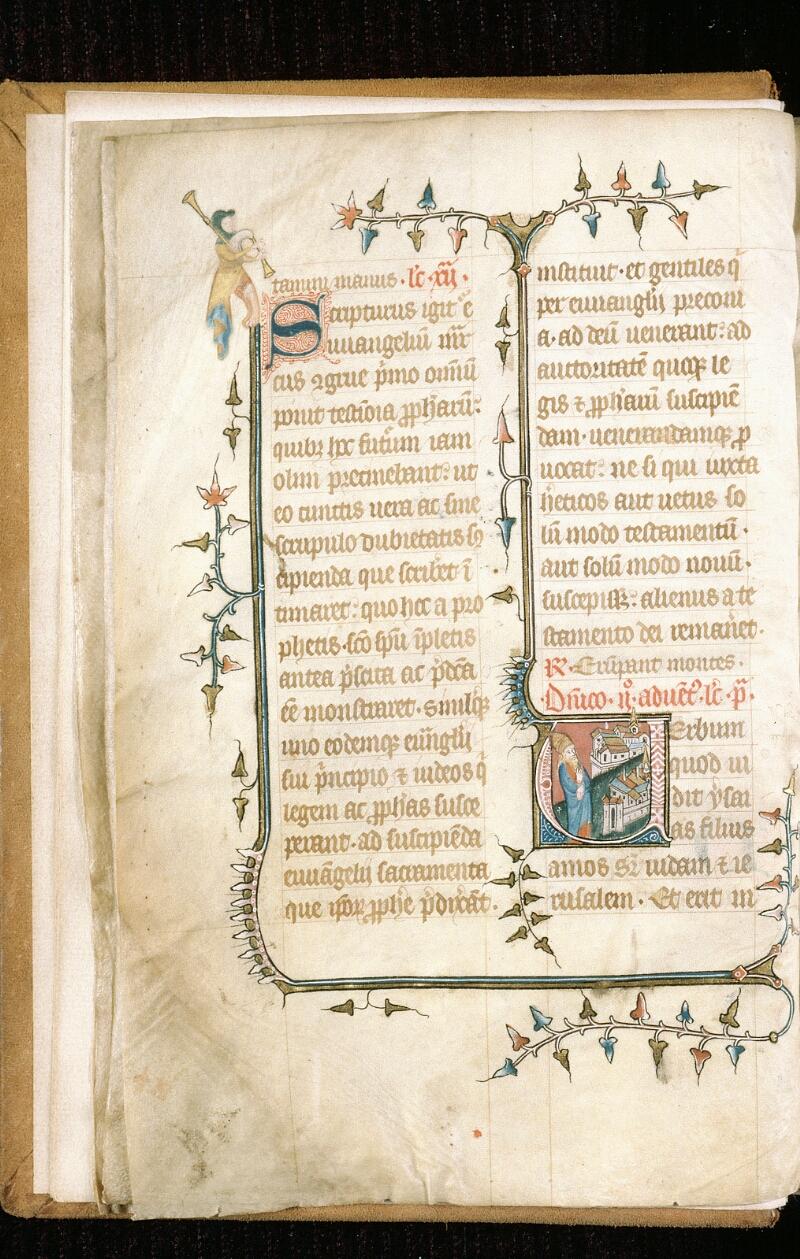 Alençon, Bibl. mun., ms. 0128, f. 003v - vue 1