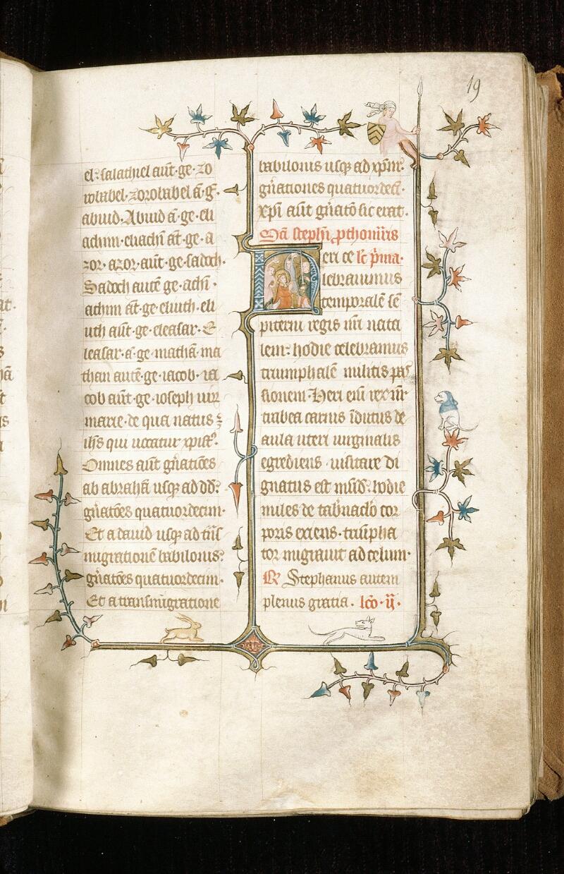 Alençon, Bibl. mun., ms. 0128, f. 019 - vue 1
