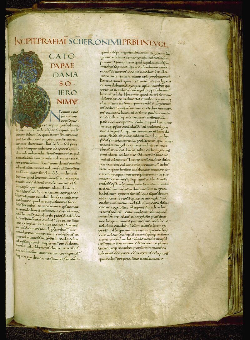 Angers, Bibl. mun., ms. 0004, f. 204 - vue 1