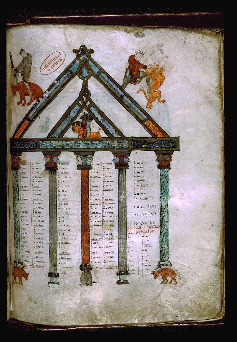 Angers, Bibl. mun., ms. 0004, f. 206 - vue 1
