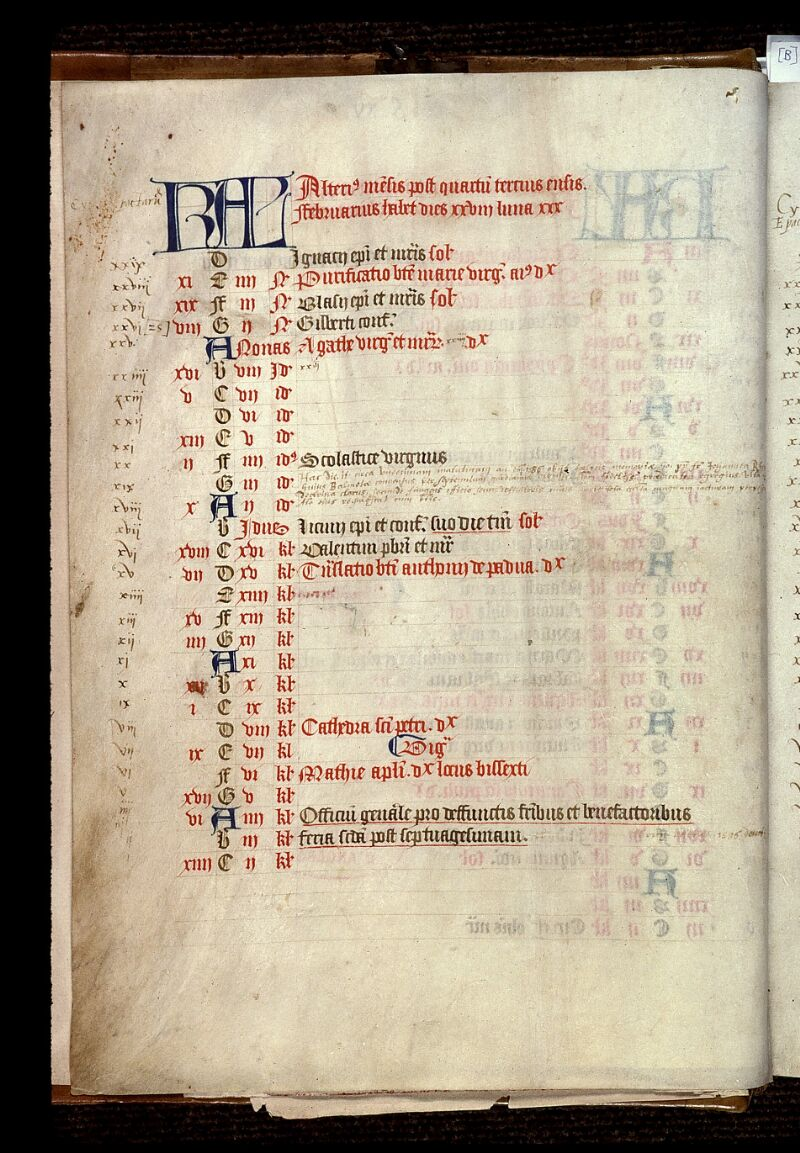 Angers, Bibl. mun., ms. 0020, f. 000I v - vue 2