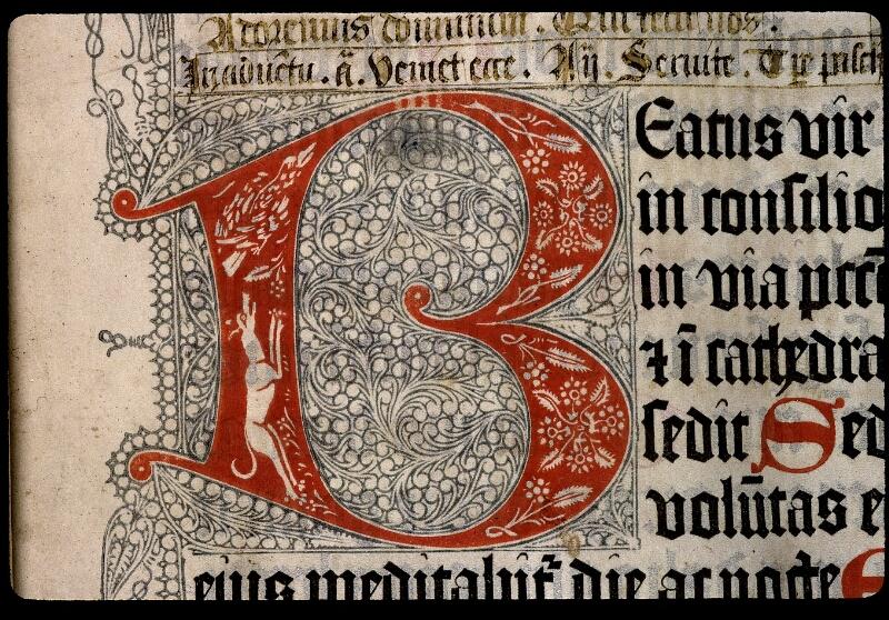 Angers, Bibl. mun., ms. 0020, f. 002 - vue 2