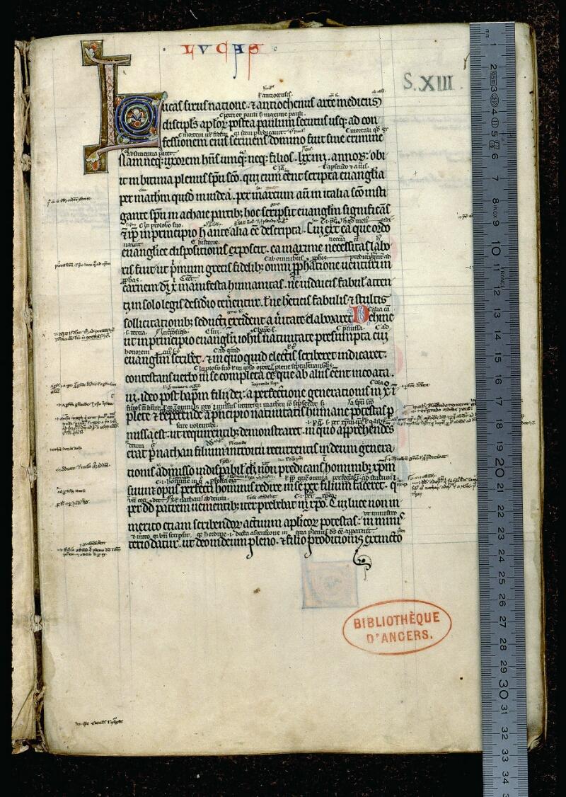 Angers, Bibl. mun., ms. 0062, f. 001 - vue 1
