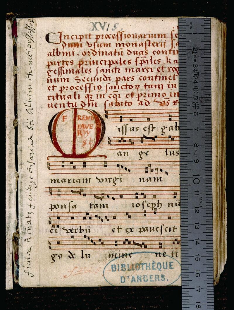 Angers, Bibl. mun., ms. 0081, p. 001 - vue 1