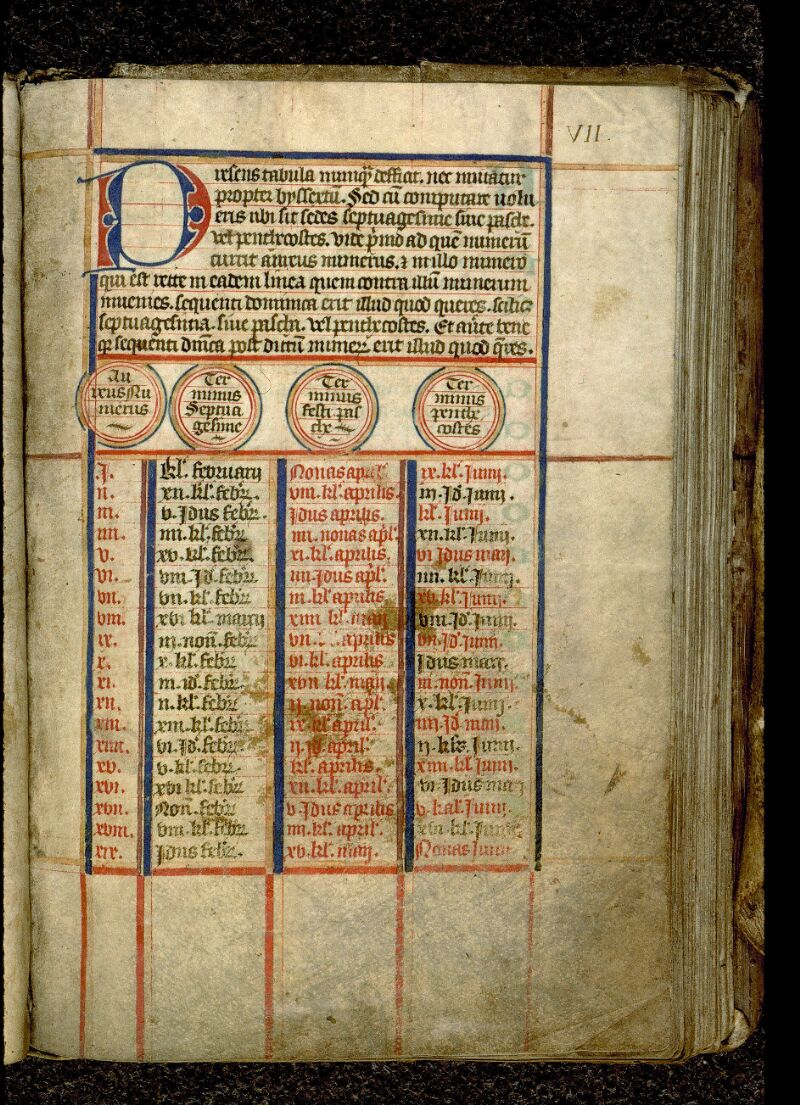 Angers, Bibl. mun., ms. 0106, f. 000VII - vue 2