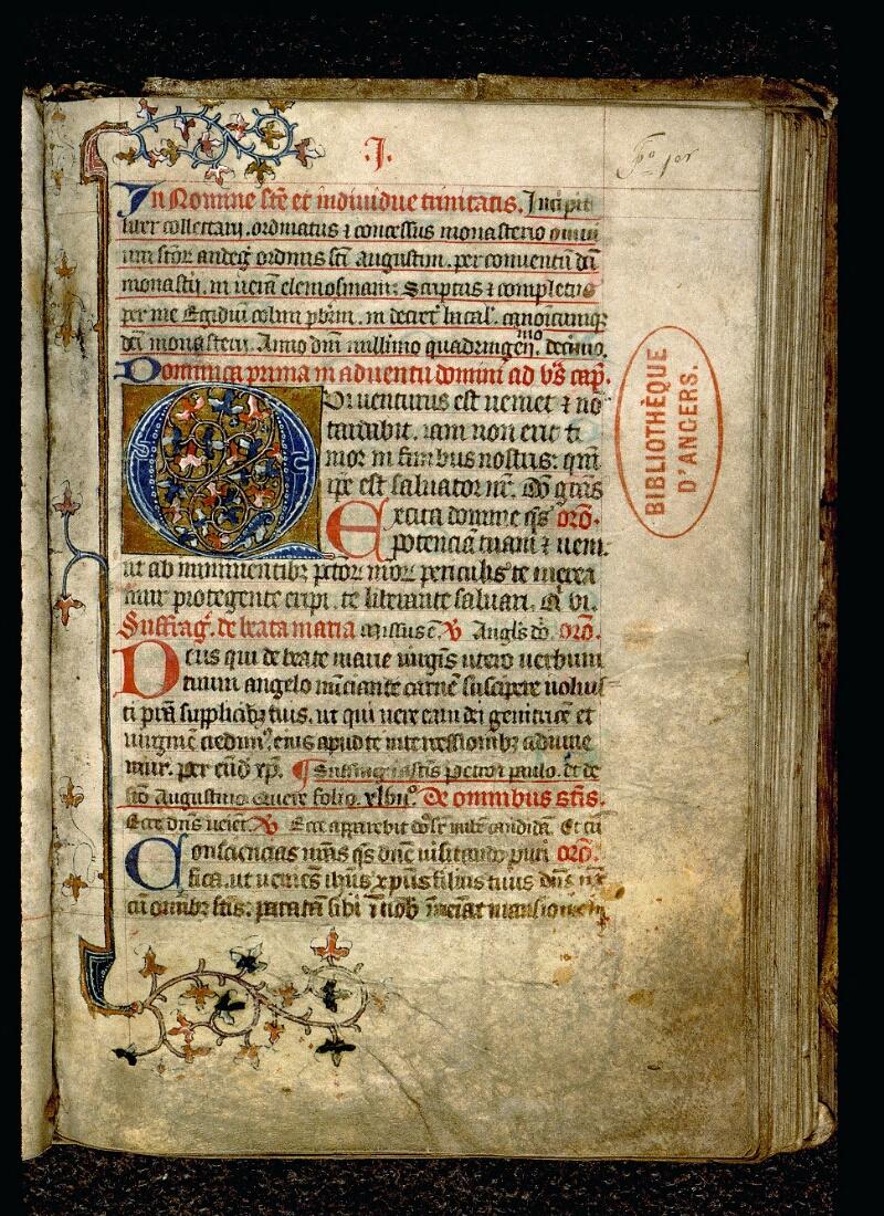 Angers, Bibl. mun., ms. 0106, f. 001