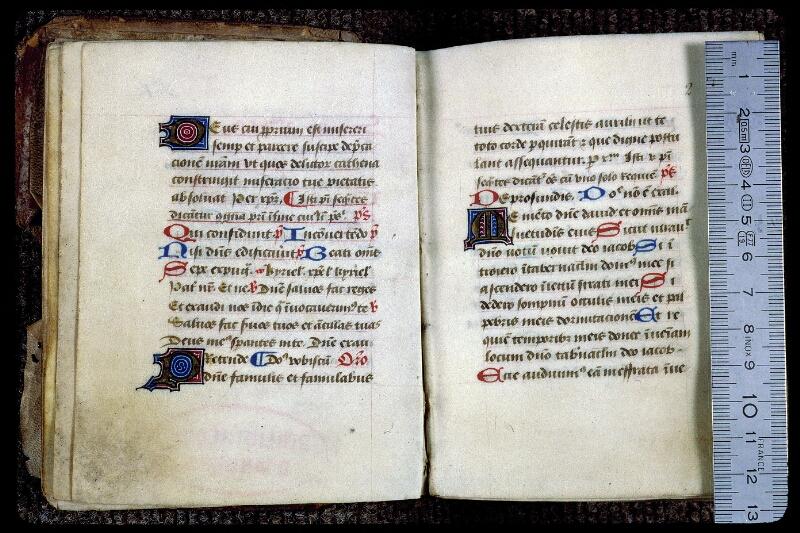 Angers, Bibl. mun., ms. 0132, f. 001v-002 - vue 1