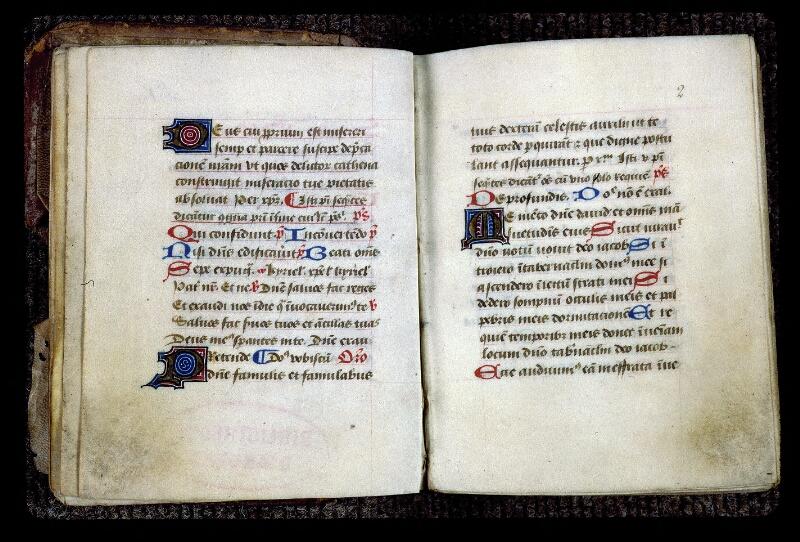 Angers, Bibl. mun., ms. 0132, f. 001v-002 - vue 2
