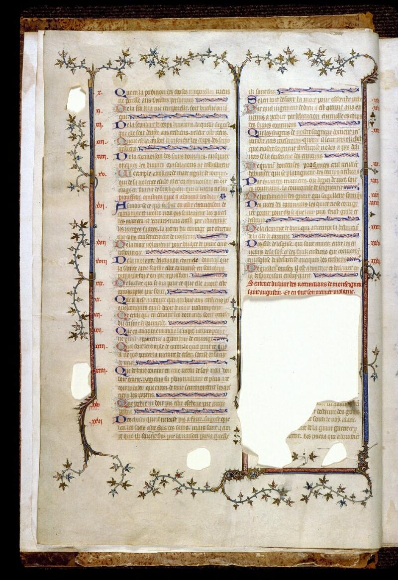 Angers, Bibl. mun., ms. 0162, f. 002v - vue 2