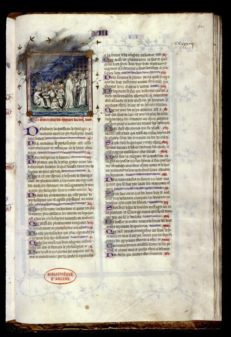 Angers, Bibl. mun., ms. 0162, f. 220 - vue 1