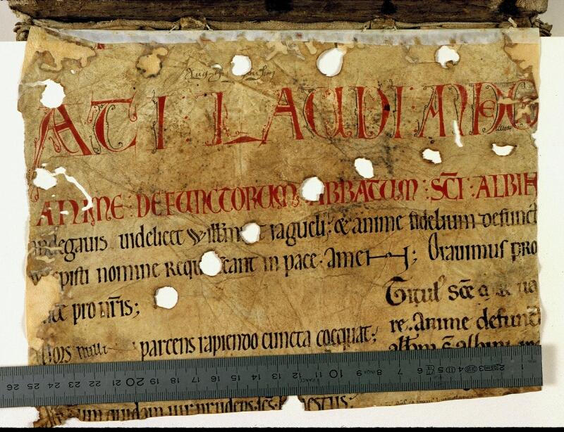 Angers, Bibl. mun., ms. 0168, f. 000A - vue 1
