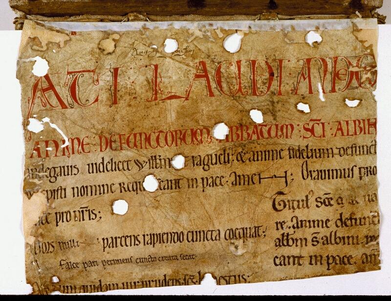 Angers, Bibl. mun., ms. 0168, f. 000A - vue 2