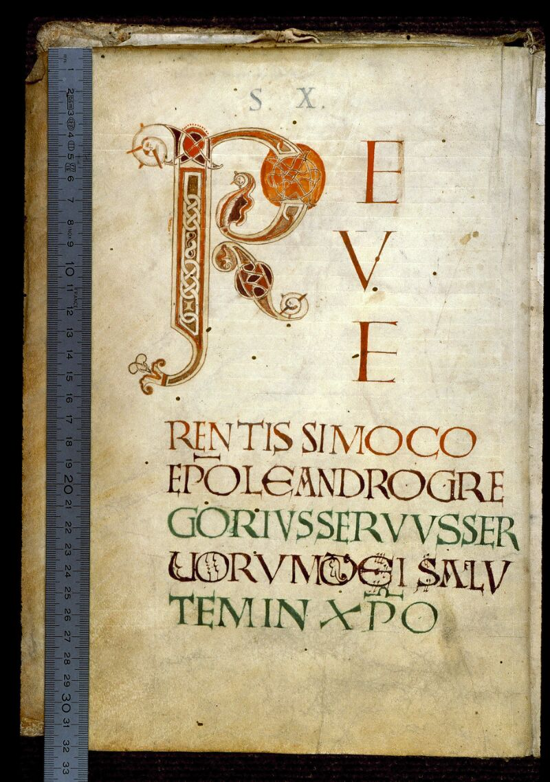 Angers, Bibl. mun., ms. 0183, f. 001v - vue 1