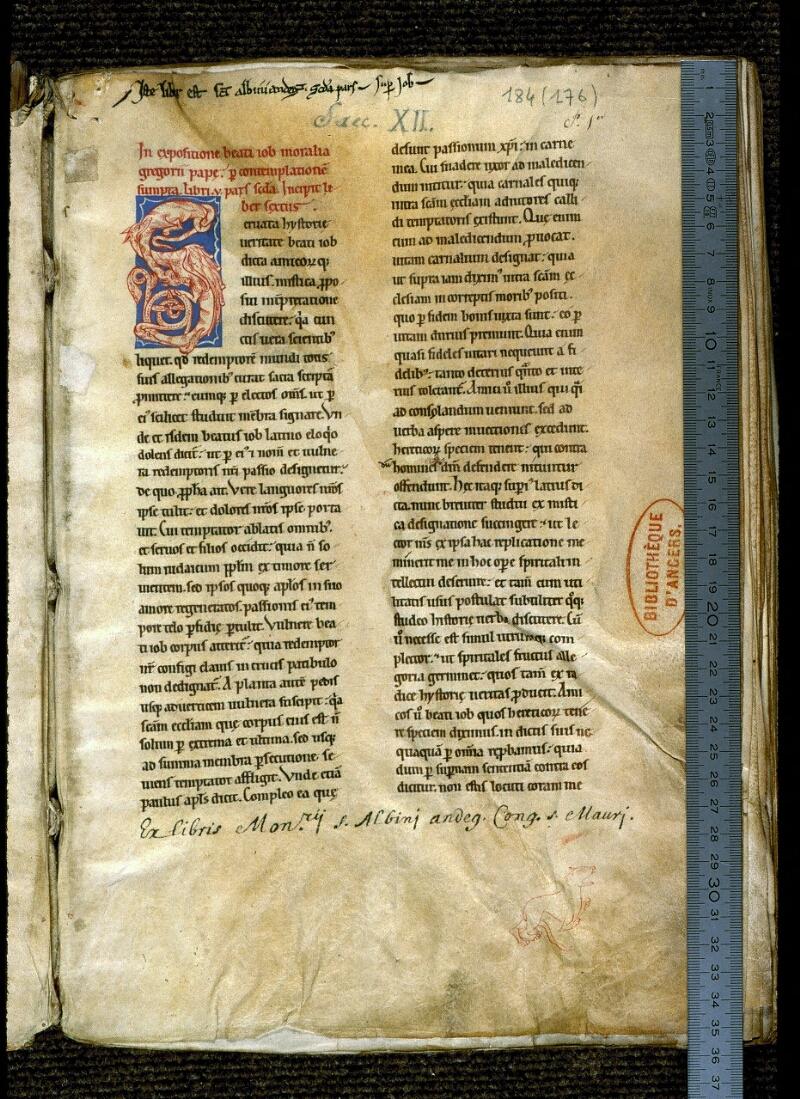 Angers, Bibl. mun., ms. 0184, f. 001 - vue 1