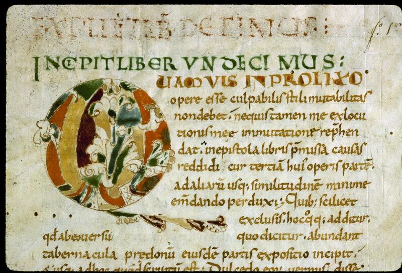 Angers, Bibl. mun., ms. 0185, f. 001 - vue 3