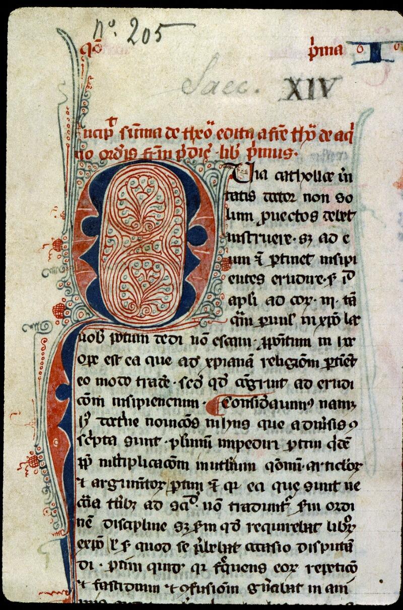 Angers, Bibl. mun., ms. 0214, f. 001 - vue 3