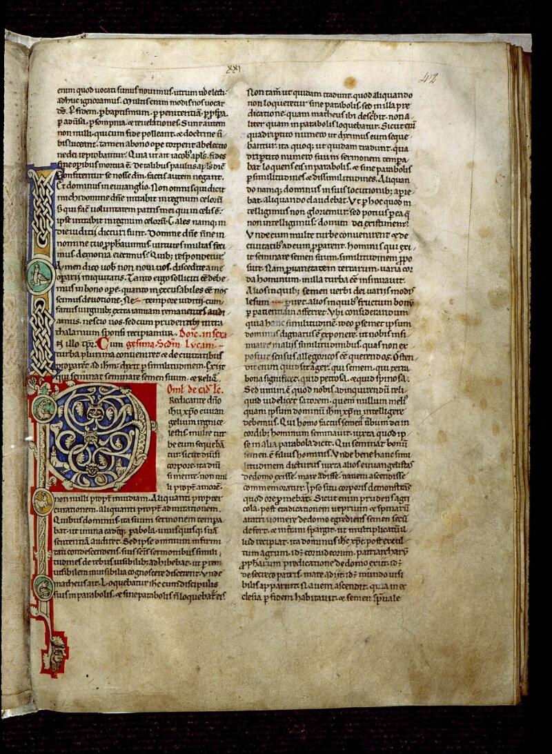 Angers, Bibl. mun., ms. 0243, f. 042 - vue 1