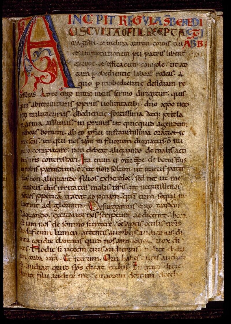 Angers, Bibl. mun., ms. 0288, f. 104 - vue 1