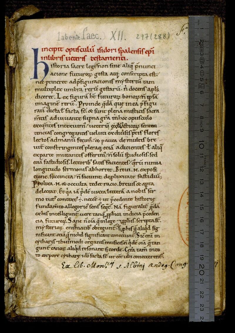 Angers, Bibl. mun., ms. 0297, f. 001 - vue 1