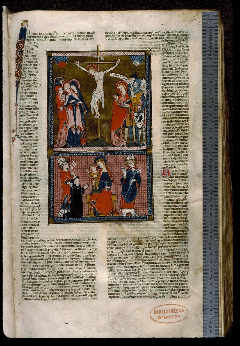 Angers, Bibl. mun., ms. 0376, f. 001 - vue 1