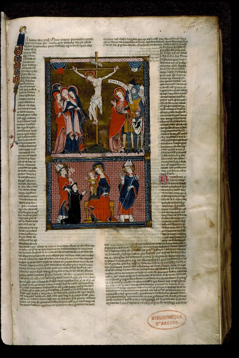 Angers, Bibl. mun., ms. 0376, f. 001 - vue 2
