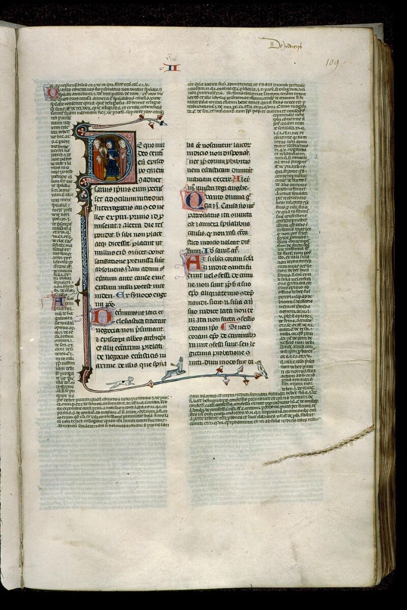 Angers, Bibl. mun., ms. 0376, f. 109 - vue 1