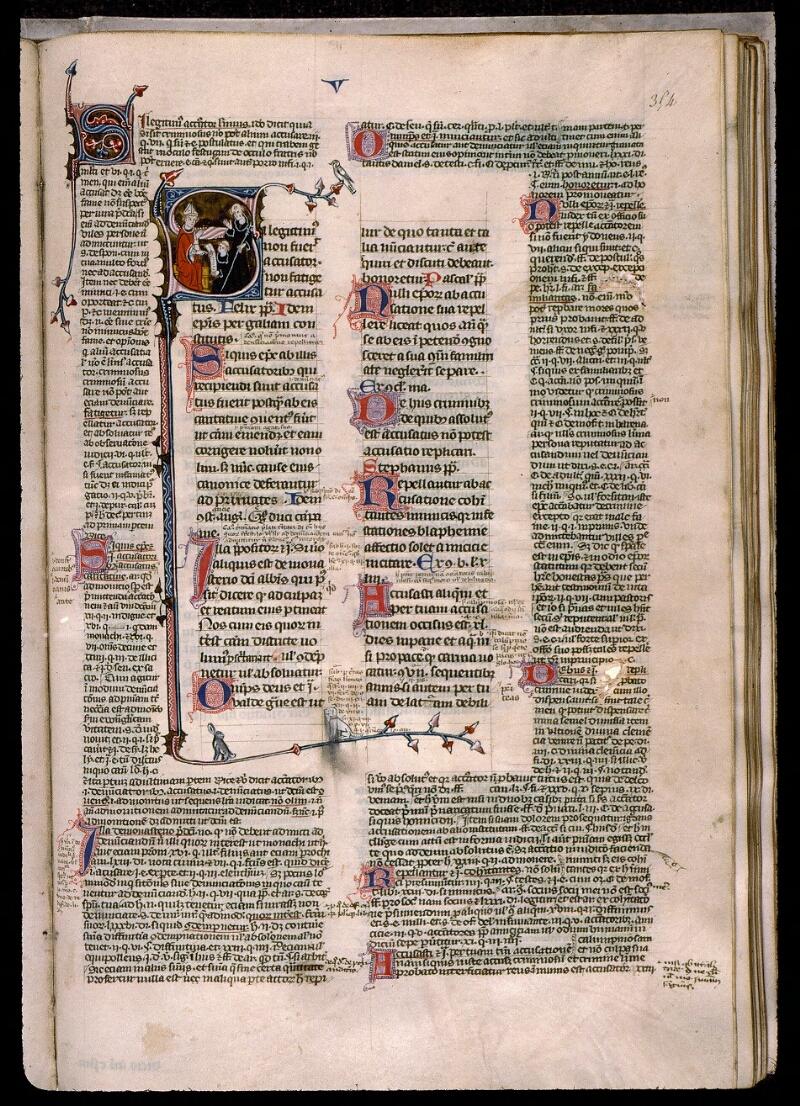 Angers, Bibl. mun., ms. 0376, f. 354 - vue 1