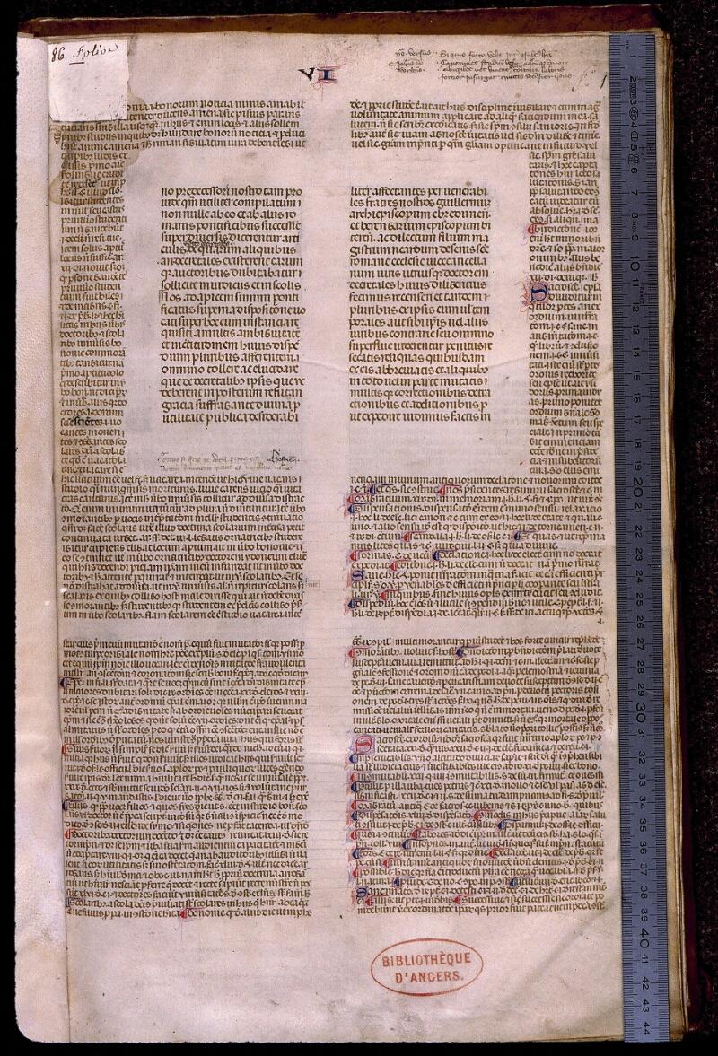 Angers, Bibl. mun., ms. 0385, f. 001 - vue 1
