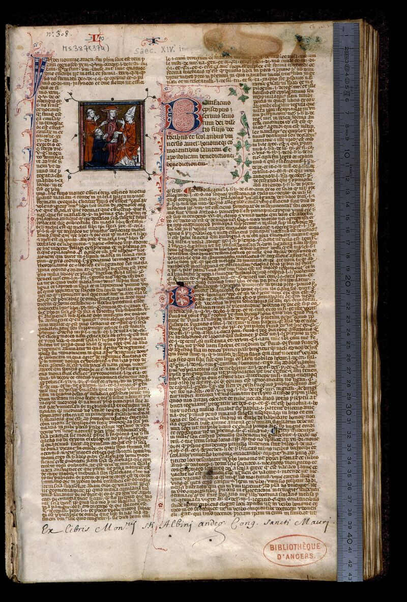 Angers, Bibl. mun., ms. 0387, f. 001 - vue 1