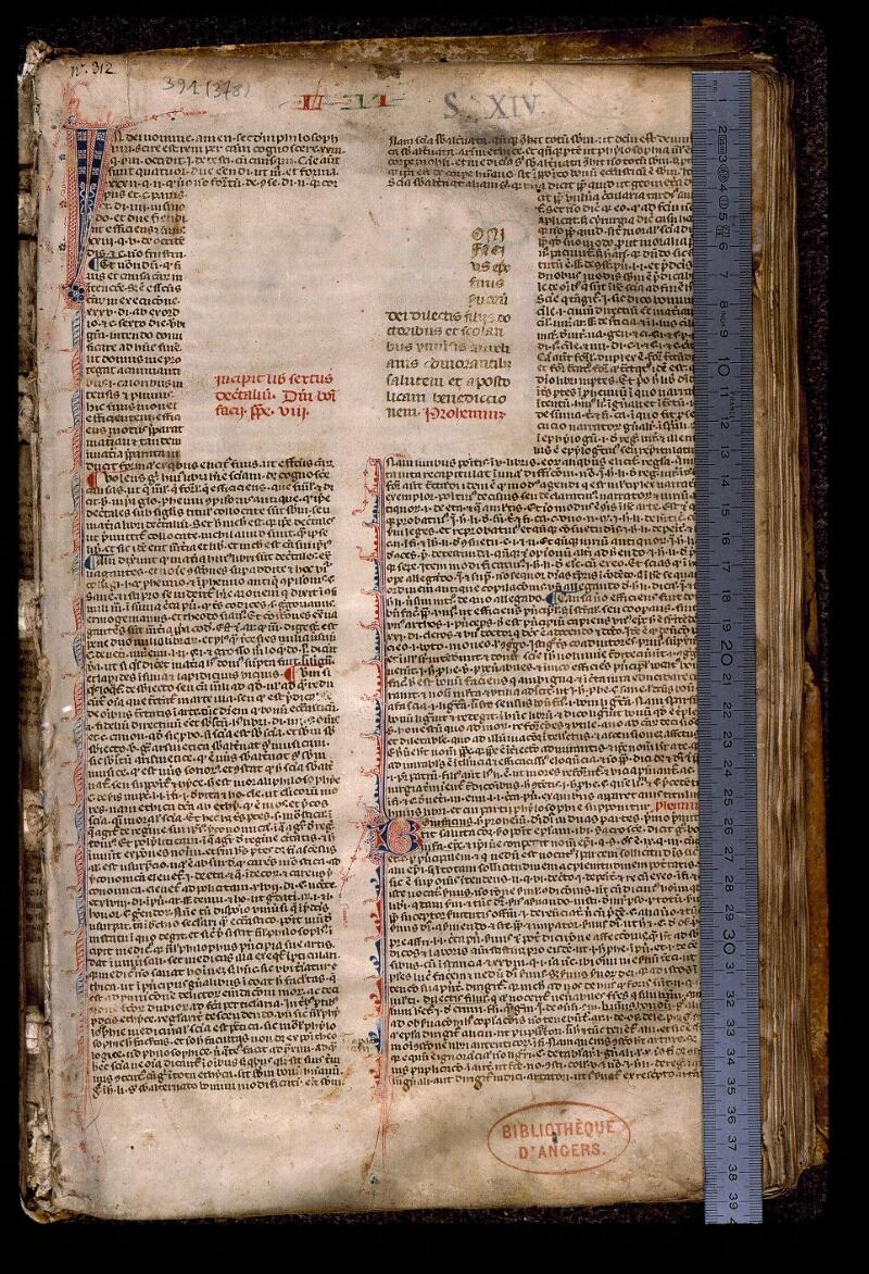 Angers, Bibl. mun., ms. 0391, f. 001 - vue 1