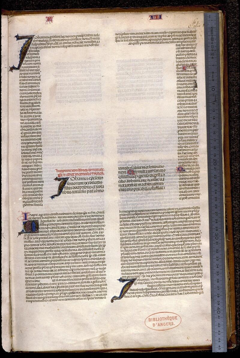 Angers, Bibl. mun., ms. 0392, f. 001 - vue 1
