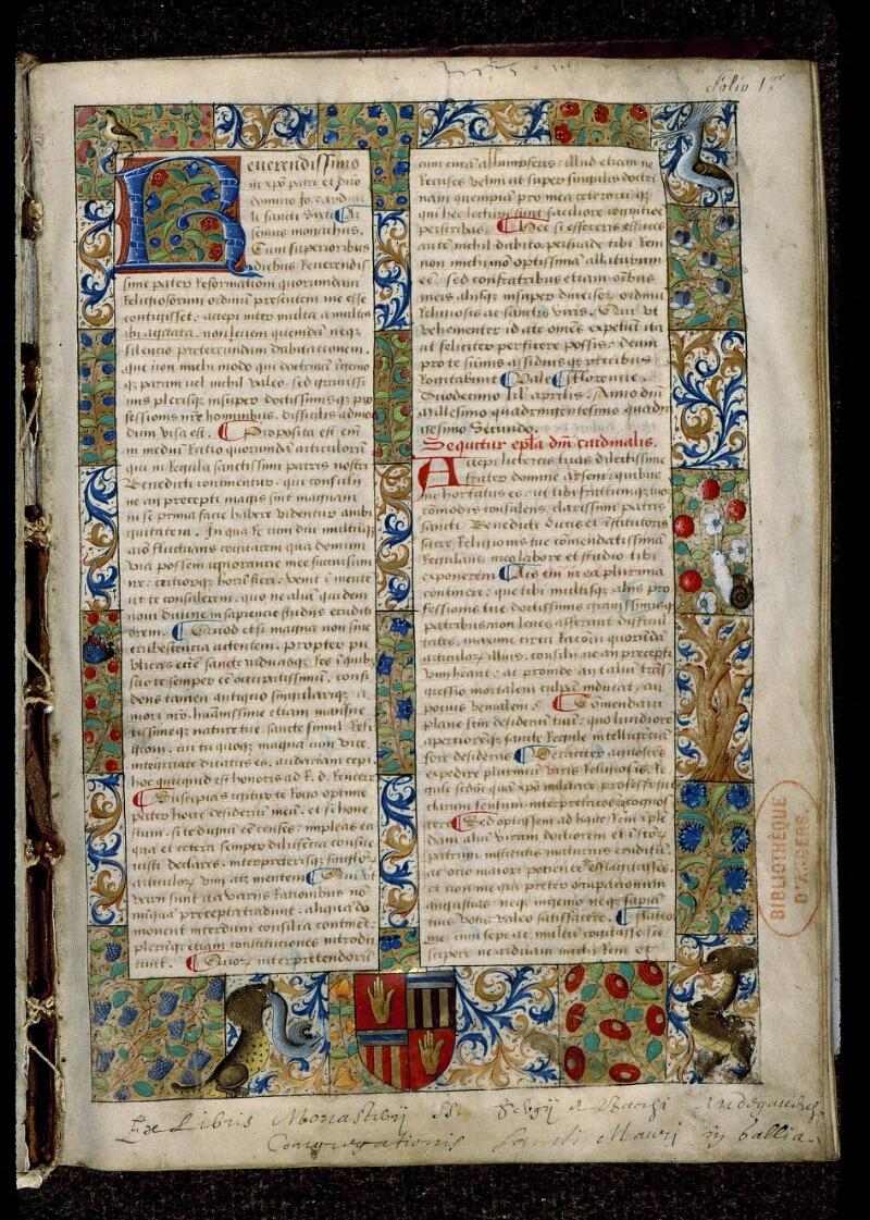 Angers, Bibl. mun., ms. 0404, f. 001 - vue 2