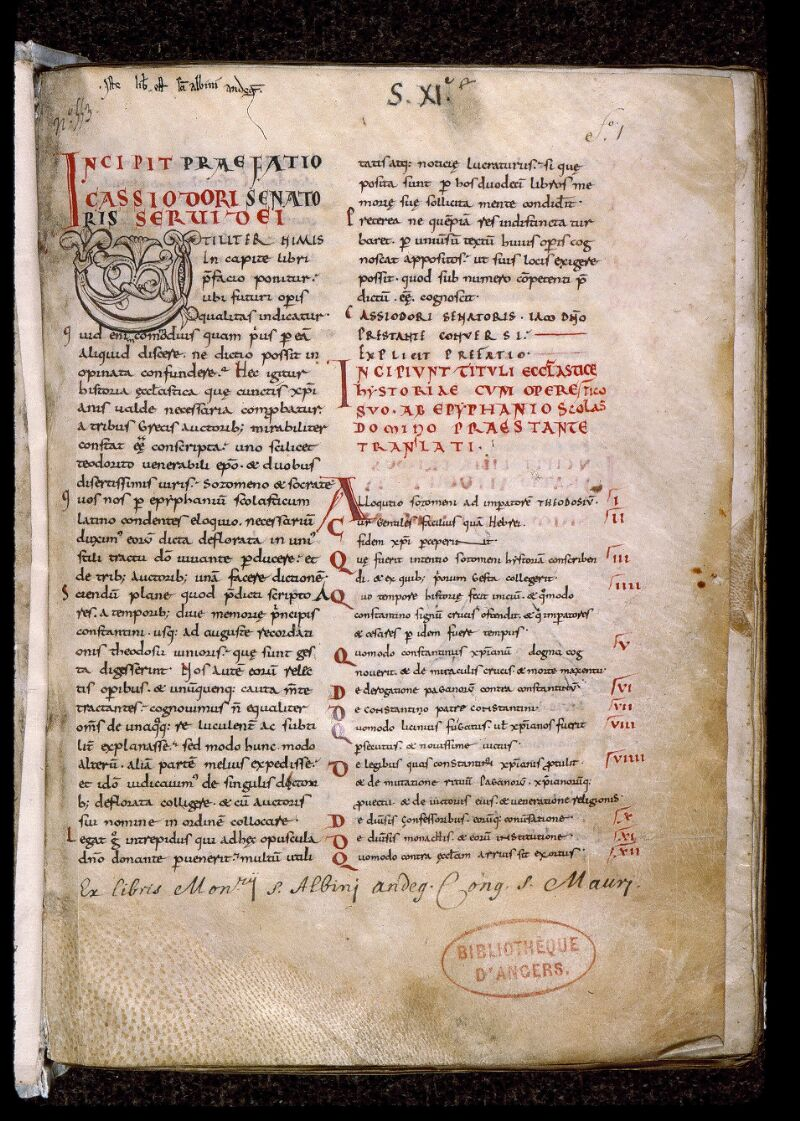 Angers, Bibl. mun., ms. 0676, f. 001