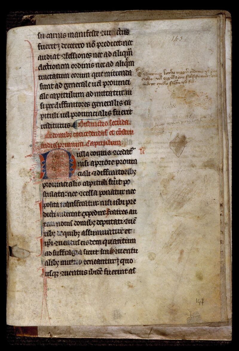 Angers, Bibl. mun., ms. 0799, f. 143 - vue 1