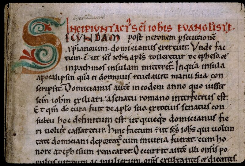Angers, Bibl. mun., ms. 0805, f. 001 - vue 3