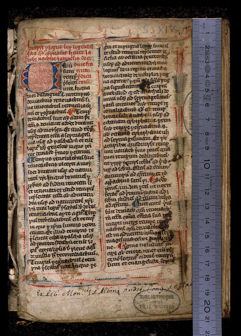 Angers, Bibl. mun., ms. 0809, f. 001 - vue 1