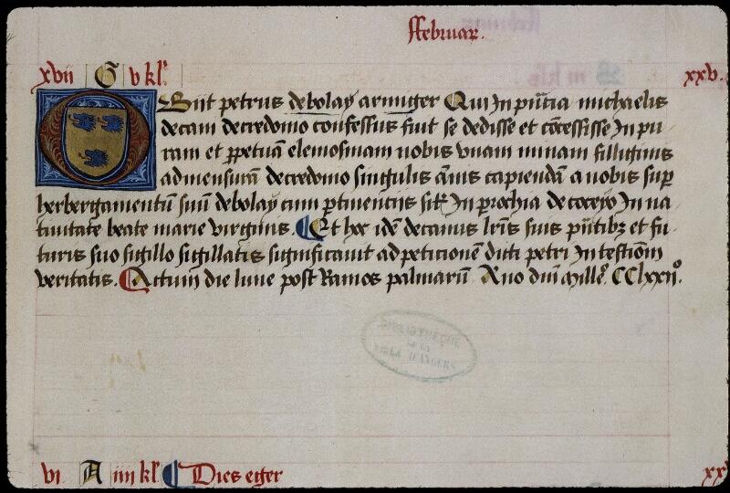 Angers, Bibl. mun., ms. 0855, f. 026 - vue 1
