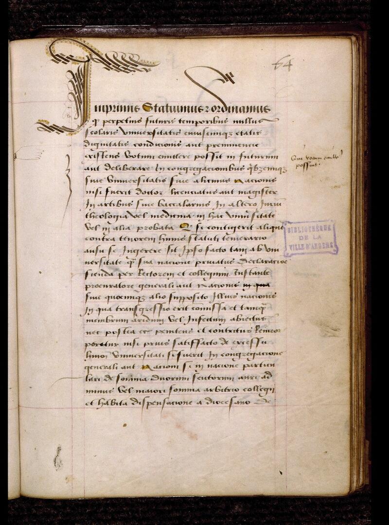Angers, Bibl. mun., ms. 1238, f. 064