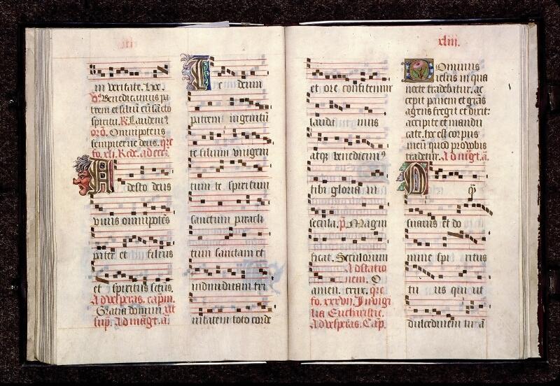 Angers, Cathédrale, ms. non coté [1], f. 042v-043