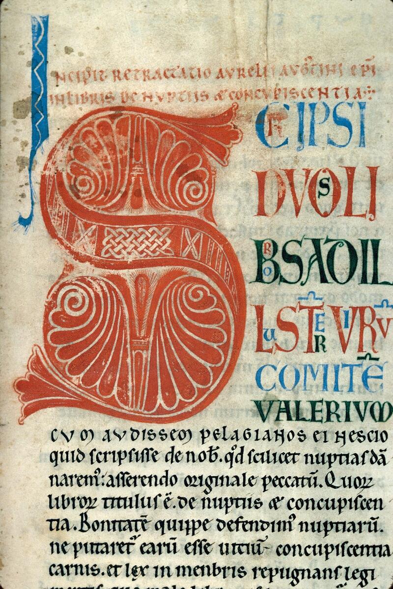 Auxerre, Bibl. mun., ms. 0017, f. 001 - vue 2